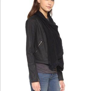 Free People Black Denim Drape Jacket